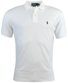 92287a6d9c Polo Ralph Lauren Mens Classic Fit Interlock Polo Shirt - L - White