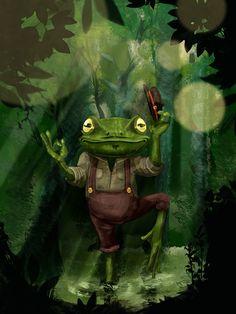 Swamp dancer by Rimantas Pocius, via Behance
