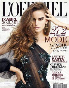 Izabel Goulart na capa da L'Officiel Paris