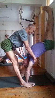 Adho Mukha Vrksasana assist