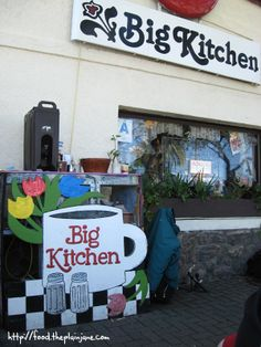 When in San Diego, CA you must head over to South Park to the cool and funky Big Kitchen Cafe (8 am-2pm), owned and operated by Judy the Beauty on Duty. It's a favorite of Rachel Ray and reportedly Whoopi Goldberg use to work here (She has her own dish). 3003 Grape Street to get your groove on. (Pictures by Mary at This Tasty Life Blog.)