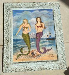 Custom Mermaid Painting - Treasures of the Sea - Post 4 - (The final Corrections)