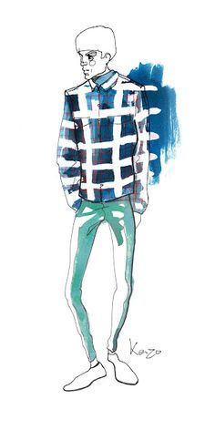 Male fashion model #illustration