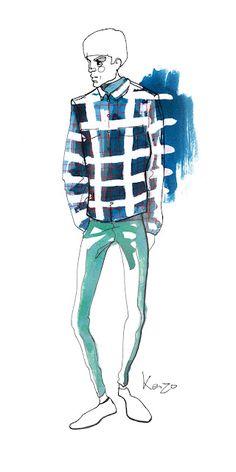 Male fashion model #illustration