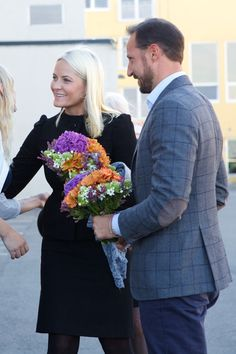 Crown Prince Haakon and Crown Princess Mette-Marit opened the new National Knowledge Centre in Drammen, Norway.