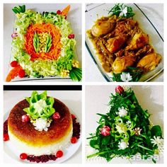 Chicken with rice and salad