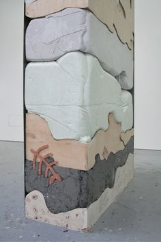 Artist who lives and works in London. This serie is called Gut Feelings. All photos from Holly Hendry her website. Gut Feeling, Concrete Projects, Co Working, Modern Sculpture, Textile Artists, Pop, Art Studios, Cool Artwork, Installation Art