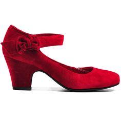 SPLENDID | Cinori Shoes  #heel #blockheel #midheel #red #suede #classic #feminine #djangojuliette #cinori #cinorishoes