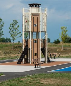 Air Traffic Control Tower playground. This is fantastic!