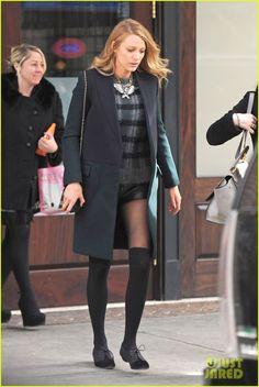 Blake Lively Wears Super Short Shorts in Freezing New York | Blake ...