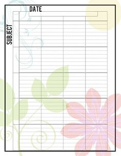 Homeschooling Planner Printables : might be able to use this for lesson plans for church