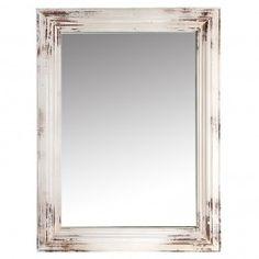 Espejo Vintage madera decoración blanco 110 cm en Nuryba.com tu tienda de muebles y decoracion online
