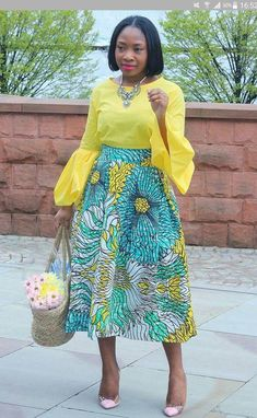 The Most Stylish Ankara Skirt Styles in Vogue African Fashion Designers, African Inspired Fashion, Latest African Fashion Dresses, African Print Dresses, African Print Fashion, Africa Fashion, African Dress, Ankara Fashion, Nigerian Fashion