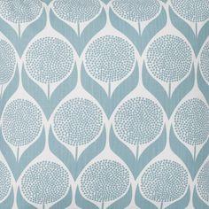 Scandinavian Fabric - Blomma Light Blue by Spira of Sweden Scandinavian Pillow Covers, Scandinavian Curtains, Scandinavian Cushions, Scandinavian Design, Geometric Cushions, Floral Cushions, Blue Cushions, Blue Throw Pillows, Geometric Curtains