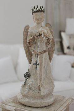 RESERVED 4 Mary M...ANGEL CartapestaTarnished wire by BurlapLuxe