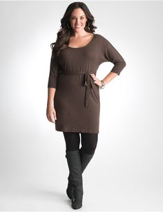plus size sweater dress tunic by lane bryant http://www.lanebryant