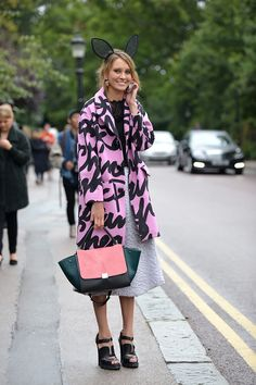 outside the shows during #lfw