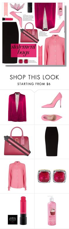 """""""How to wear a Satin Blazer!"""" by disco-mermaid ❤ liked on Polyvore featuring Haider Ackermann, Fendi, Marc Jacobs, The Row, Theory, ULTA and NARS Cosmetics"""