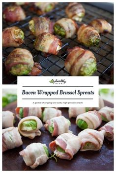 Bacon and Brussel sprouts already pair well together, but when you wrap the Brussel sprouts with bacon, it's game-changing! These Bacon Wrapped Brussel Sprouts are a low-carb, high protein snack that fits within the keto, Whole30, and gluten-free diets.