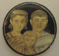 Roman gold glass family portrait, 3rd century A.D. Vatican library, Rome