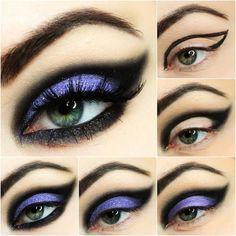 50 Halloween-Haar- und Make-up-Tutorials - Looks - halloween schminke Makeup Art, Hair Makeup, Makeup Ideas, Makeup Tutorials, Dress Makeup, Goth Makeup Tutorial, Prom Makeup, Makeup Tips, Beauty Makeup
