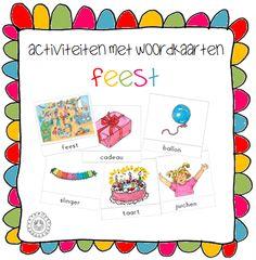 Kleuterjuf in een kleuterklas: Activiteiten met woordkaarten | Thema FEEST