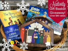 Favorite Nativity Resources (& $90+ Gift Basket Giveaway!) - http://www.proverbialhomemaker.com/favorite-nativity-resources.html