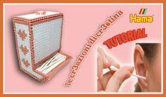 DIY Porta Cotton Fioc/Dispenser Caramelle con Hama beads/Perler/Pyssla by cr3stina Qui il tutorial: https://youtu.be/eEb2TwZHRyQ