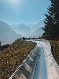 Toboggan, Alpine Slide at Oeschinensee, Switzerland Places To Travel, Places To See, Travel Destinations, Grindelwald Switzerland, Gstaad Switzerland, Geneva Switzerland, Best Places In Switzerland, Switzerland Wallpaper, Paisajes