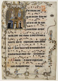 1st Sunday in Advent        Object:        Manuscript      Place of origin:        Netherlands (illuminated)      Date:        ca. 1330 (illuminated)      Artist/Maker:        Unknown (production)      Materials and Techniques:        Water-based pigments, gilding and ink on parchment