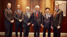 Kheng Ly posts with John McCallum, Peter Kruyt, Graham Shantz, Marcel Forget and Pierre McCann