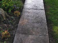 Beautiful concrete walkway by Endless Concrete Design