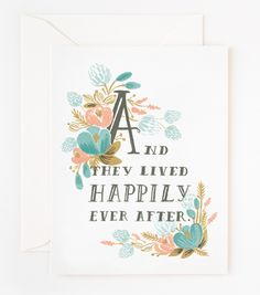 Rifle Paper Co. - Happily Ever After Card