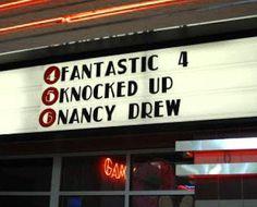 Fantastic 4 Knocked Up Nancy Drew - Funny Sign