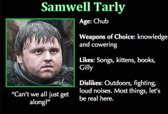 Game of Thrones Trading Cards - Samwell Tarly