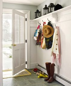 Use bluestone for a mudroom floor because it is boot-friendly. | Photo: Tria Giovan