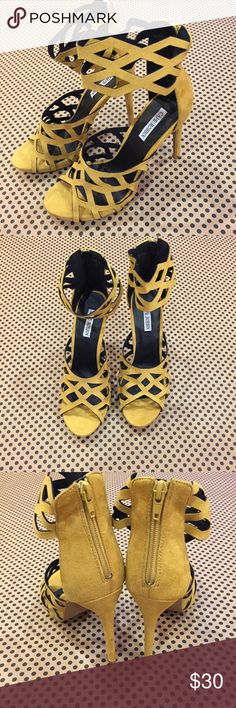 NEW Cape Robbin Cutout Mustard Yellow Heels Sexy These heels are hot! Bundle and save Cape Robbin Shoes Heels