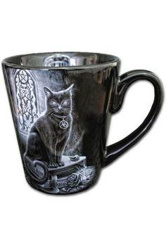 Witch Cat Black Mug by Spiral Direct