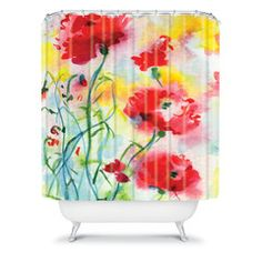 Ginette Fine Art If Poppies Could Only Speak Shower Curtain beautiful shower curtains