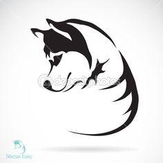 Vector afbeelding van een hond Siberische husky op witte achtergrond — Stockvector © yod67 #43465693