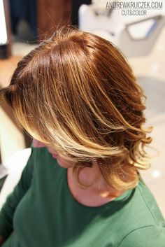 Light brown hair with intensive highlights at Kruczek Hair Concept