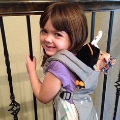 My daughter in a galaxy grey ergo doll carrier. ;)
