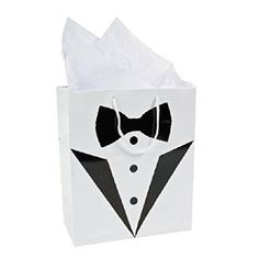 2x Tuxedo Gift Bags - Perfect for Best Man / Usher / Page…