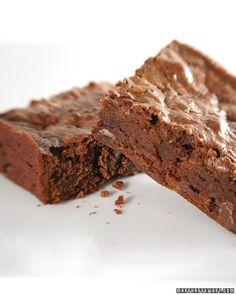 Deep, Dark Brownies - Martha Stewart Recipes
