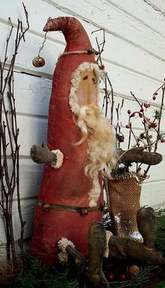 "Primitive Wooden Patterns Free | FREE Primitive Vintage Santa Claus Doll by "" Kentucky Primitives ..."