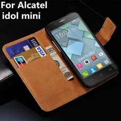 >> Click to Buy << For Alcatel Idol Mini Luxury Leather Case Wallet Stand Phone Cases Cover Bag black Classic Flip With Card Slot #Affiliate