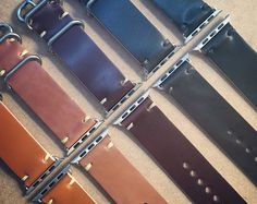 Handmade Whiskey Shell Cordovan Leather Strap for Apple Watch