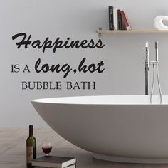 bathroom inspired wall decal happiness bubble quote shower room vinyl art decor 001