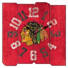 Chicago Blackhawks Vintage Square Clock