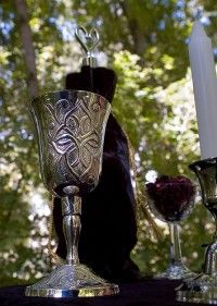 Wiccan chalice as used in the Great Rite